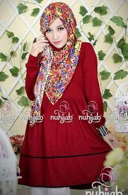 Contoh Hijab Keren Untuk Remaja dengan Motif Bunga