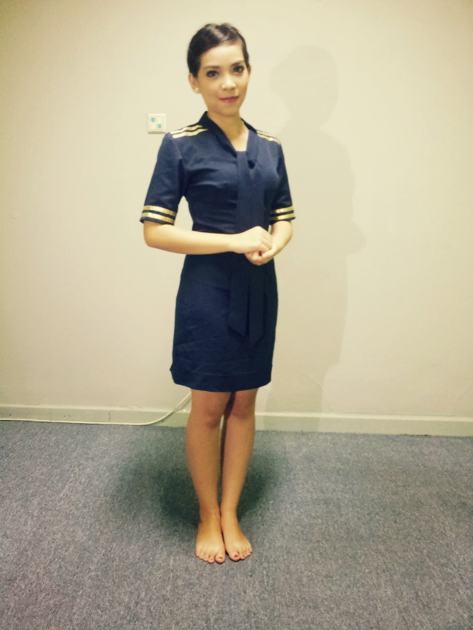 Syeline Trivena become Stewardess