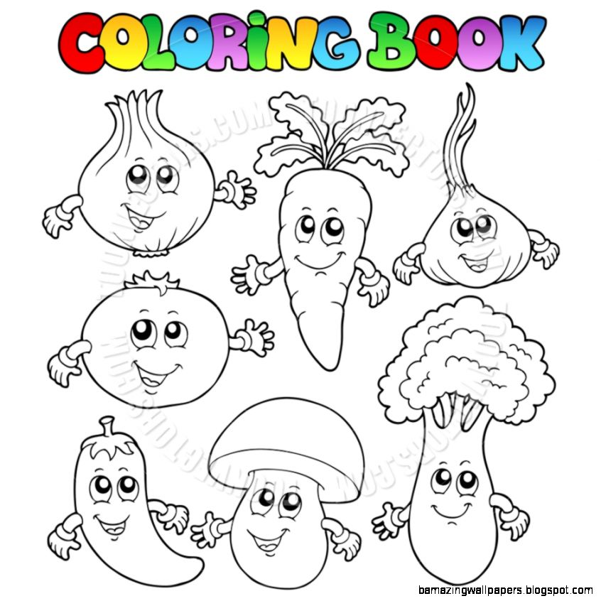 Gallery For  Vegetable Clipart Black and White