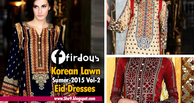 Firdous Korean Lawn for Eid 2015