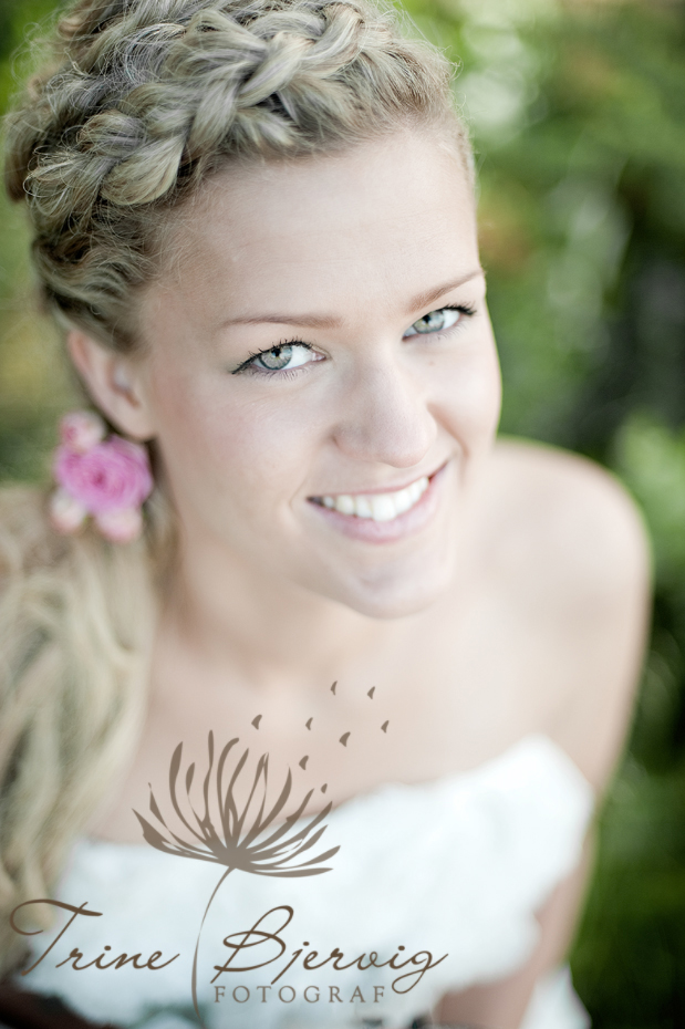 Nærbilde av brud. Fotograf Trine Bjervig