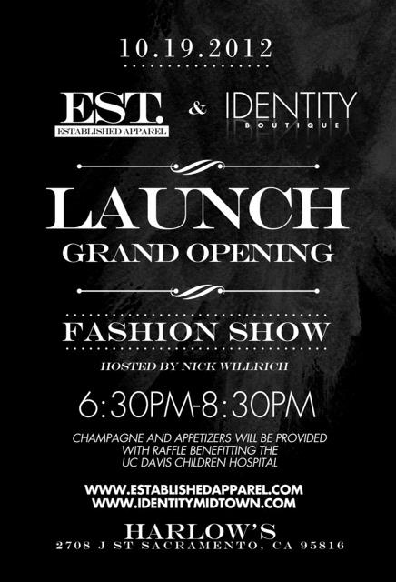 Be There: Launch & Fashion Show – October 19th