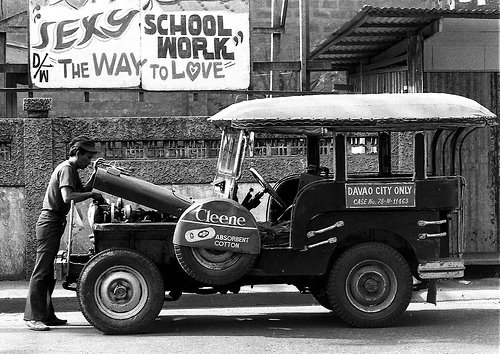 Old jeepney from 1950s