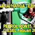 Harga Terkini Petrol & Diesel Mulai 1 Februari 2016