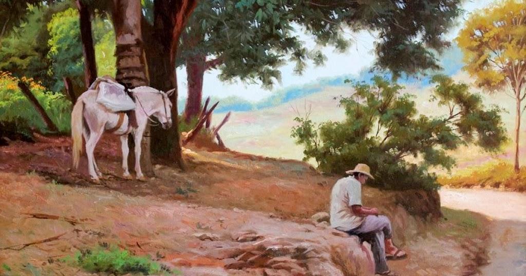 Im genes arte pinturas pinturas paisajes del campo - Cuadros de vacas ...