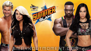 Watch Kaitlyn Dolph Ziggler vs AJ Lee Big E Langston SummerSlam 2013 PPV Match