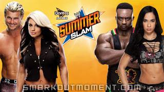 Watch Kaitlyn Dolph Ziggler vs AJ Lee Big E Langston SummerSlam 2013 PPV Match