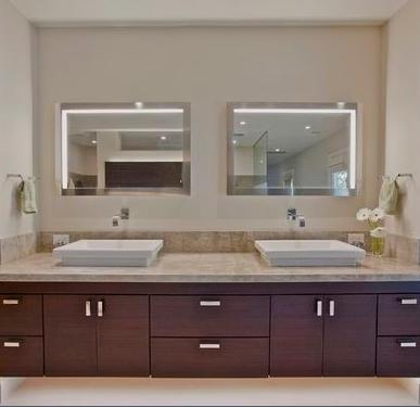 Ba os modernos toalleros ba o for Lavamanos sobrepuesto