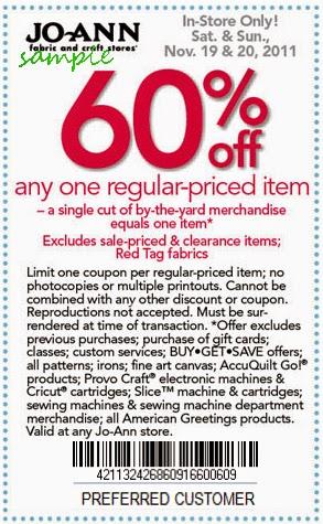 Joann fabrics coupons printable december 2018