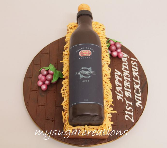 Cake Design Wine Bottle : My Sugar Creations (001943746-M): Wine Bottle Cake - Nicklaus