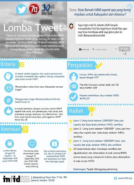Lomba Tweet HAM INFID 2015 berhadiah jutaan rupiah
