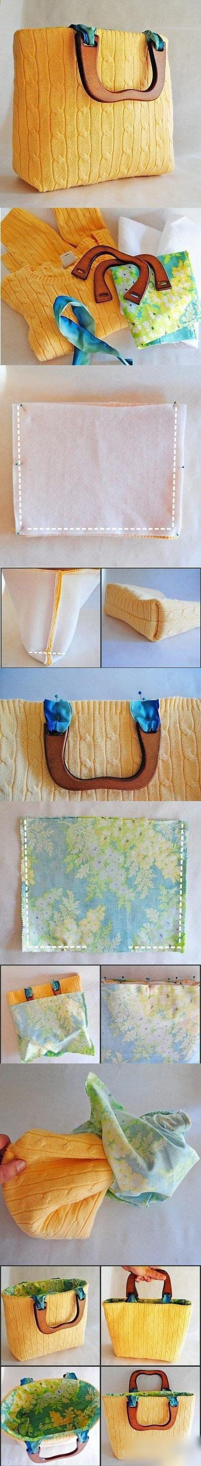 How To Make a bag from old sweater