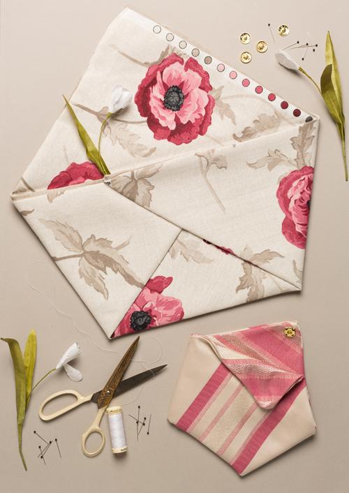 Laura Ashley Freshford fabric making origami tote bag