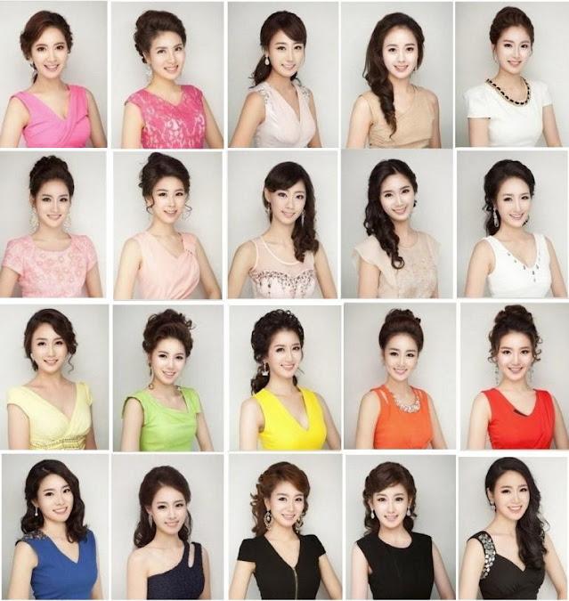 Participantes en el concurso de belleza Miss Daegu 2013