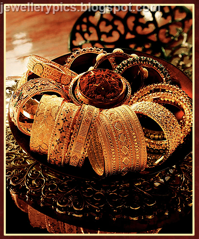 Checkout tanishq gold bangle collection wedding designs