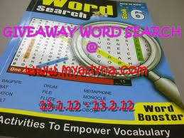 GIVEAWAY WORD SEARCH