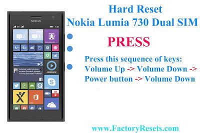 Nokia lumia 730 RM-1040 hard reset