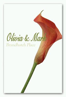 Wedding cards and invitations with callas lilies, part 1