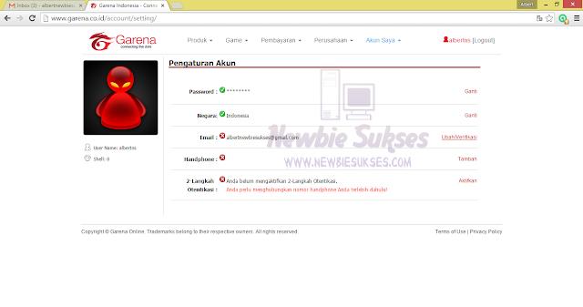 Kemudian klik Ubah / Verifikasi untuk mengubah atau Verifikasi Email anda.