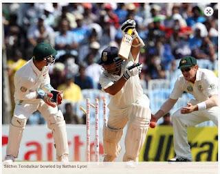 Sachin-Tendulkar-bowled-by-Nathan-Lyon-IND-vs-AUS-1st-Test