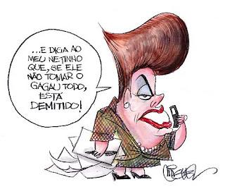 Charge de Dilma ilustra o trabalho de branding cultural para a marca da presidente