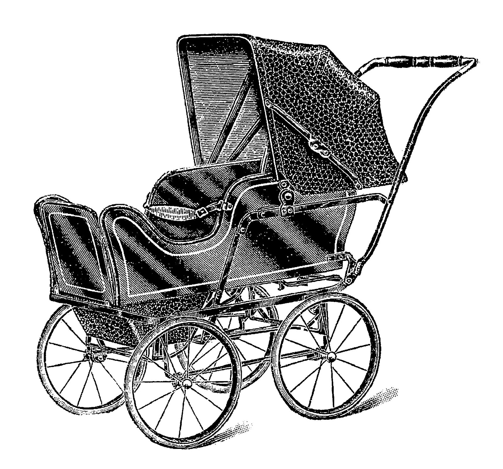 Antique Images Vintage Baby Carriage Digital Download