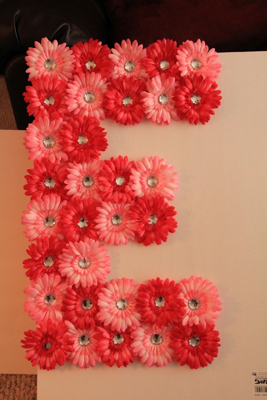 getting there diy foam board flower letters