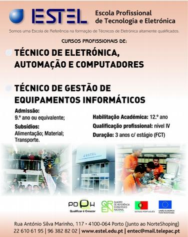 Cursos profissionais Porto 2013 (Eletrónica e Equipamentos Informáticos)
