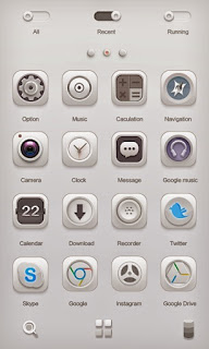 Screenshots of the White Soul GO Launcher Theme for Android mobile, tablet, and Smartphone.