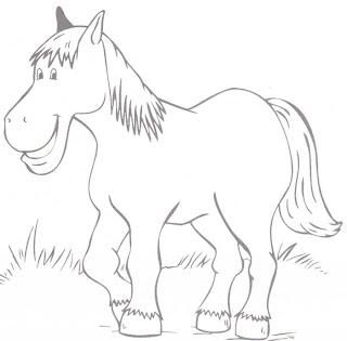 a desenhar cavalinho lindo pastando ponei indio bravo colorir