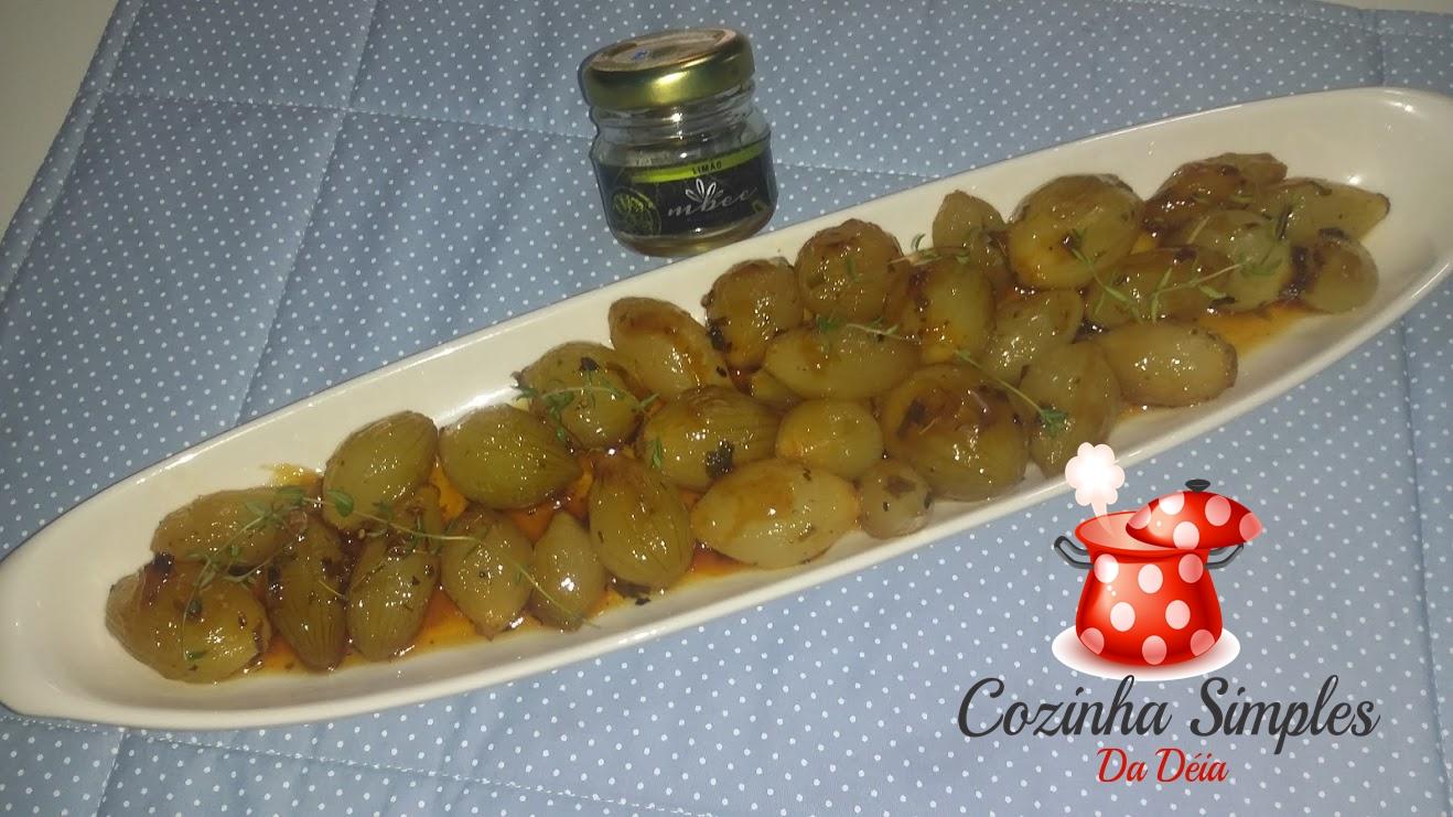 Mini cebolas agridoces no mel de limão  Cozinha Simples da Deia # Mini Cozinha Simples