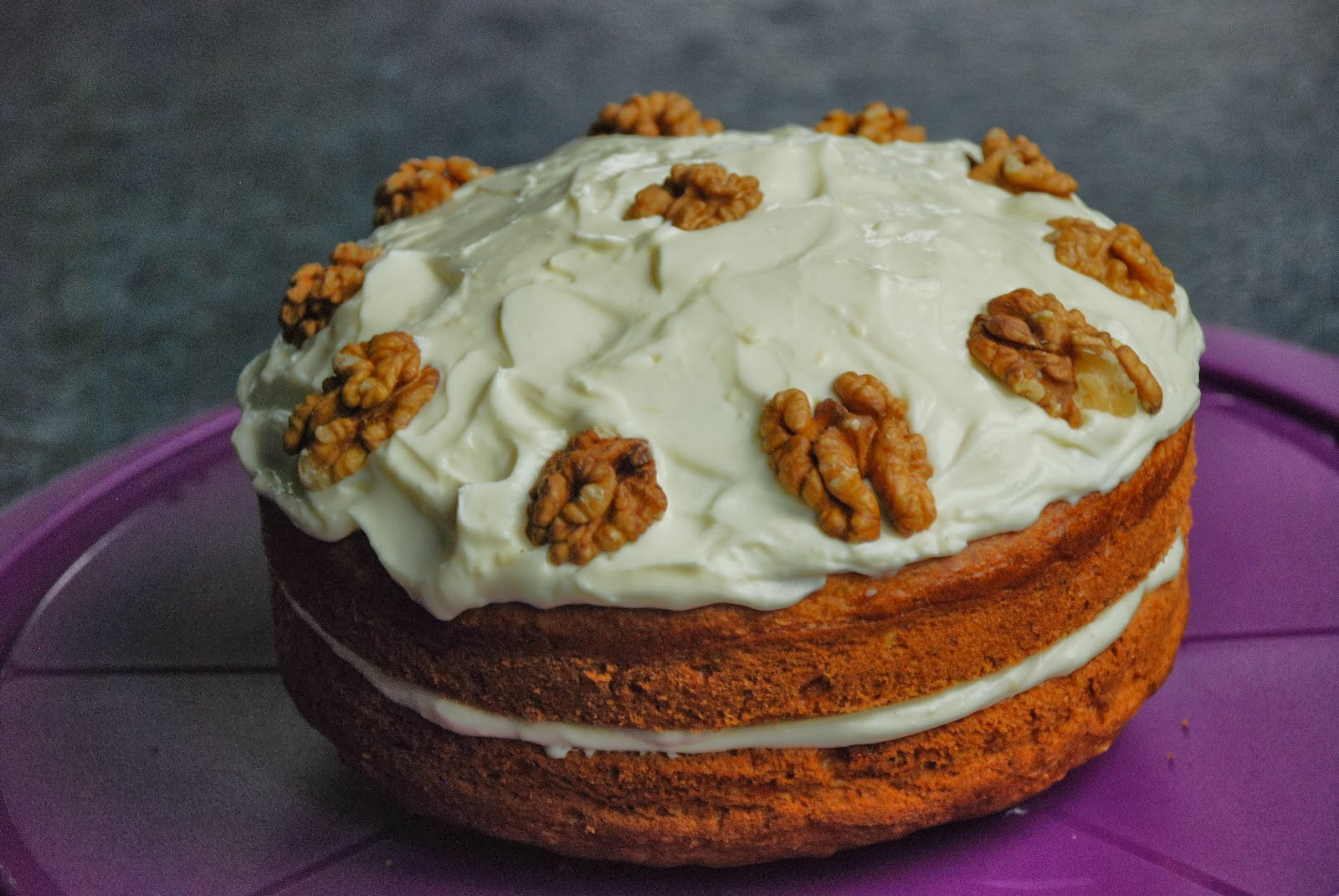 image of home made carrot and walnut cake