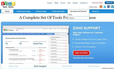 zoho developer and partners application