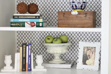 {Fabric Lined Shelves}