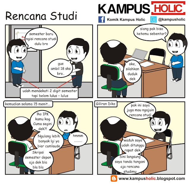 #248 Rencana Studi Kuliah komik kampus holic