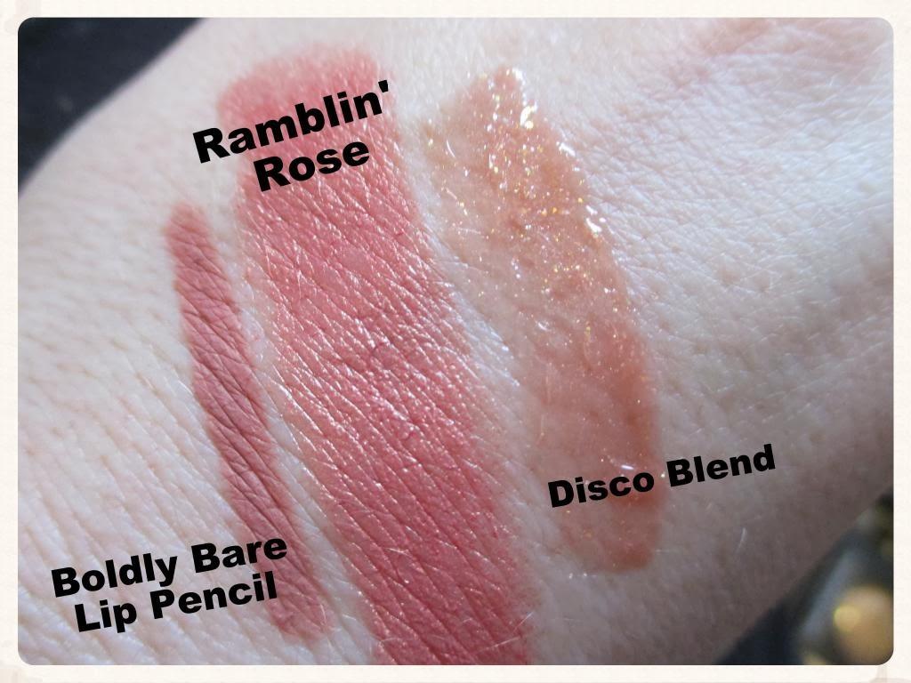 baroque in babylon rose gold glitter lips