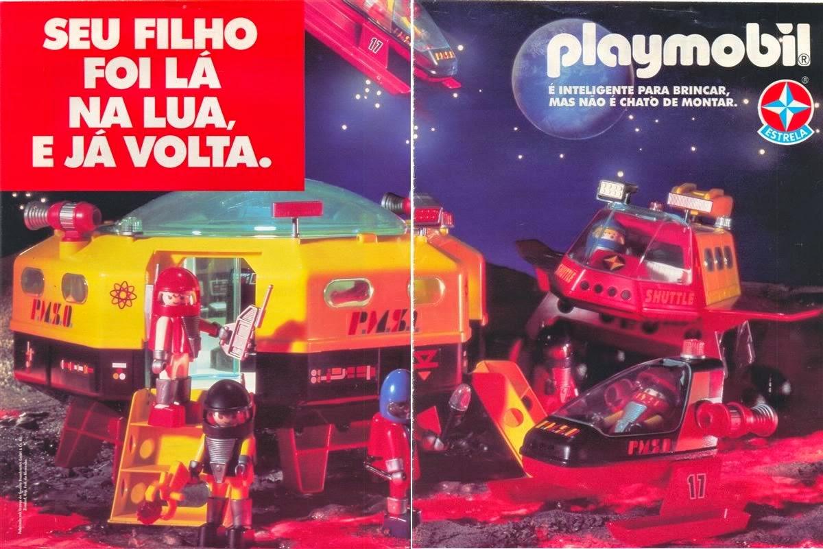 Propaganda do Playmobil (Estrela) com o tema Espaço.