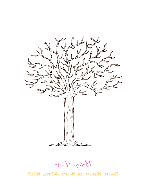 baby shower thumbprint tree template baby shower canvas guest book