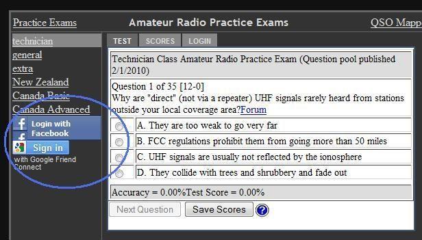 amateur radio practice exam