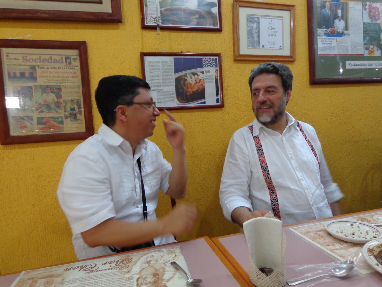 Con el camarada Luciano Concheiro (UAM-Xochimilco)