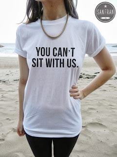 t-shirt, birkin, graphic t, graphic t shirt, you can't sit with us, mean girls, etsy, etsy shop,