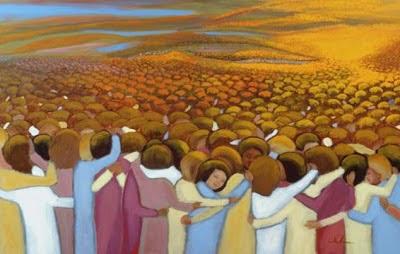 Il ne suffit pas de pleurer vos défunts, mais de prier pour eux et encore mieux faire l'offrande de Messes et communier à leur intention. Communion_of_Saints