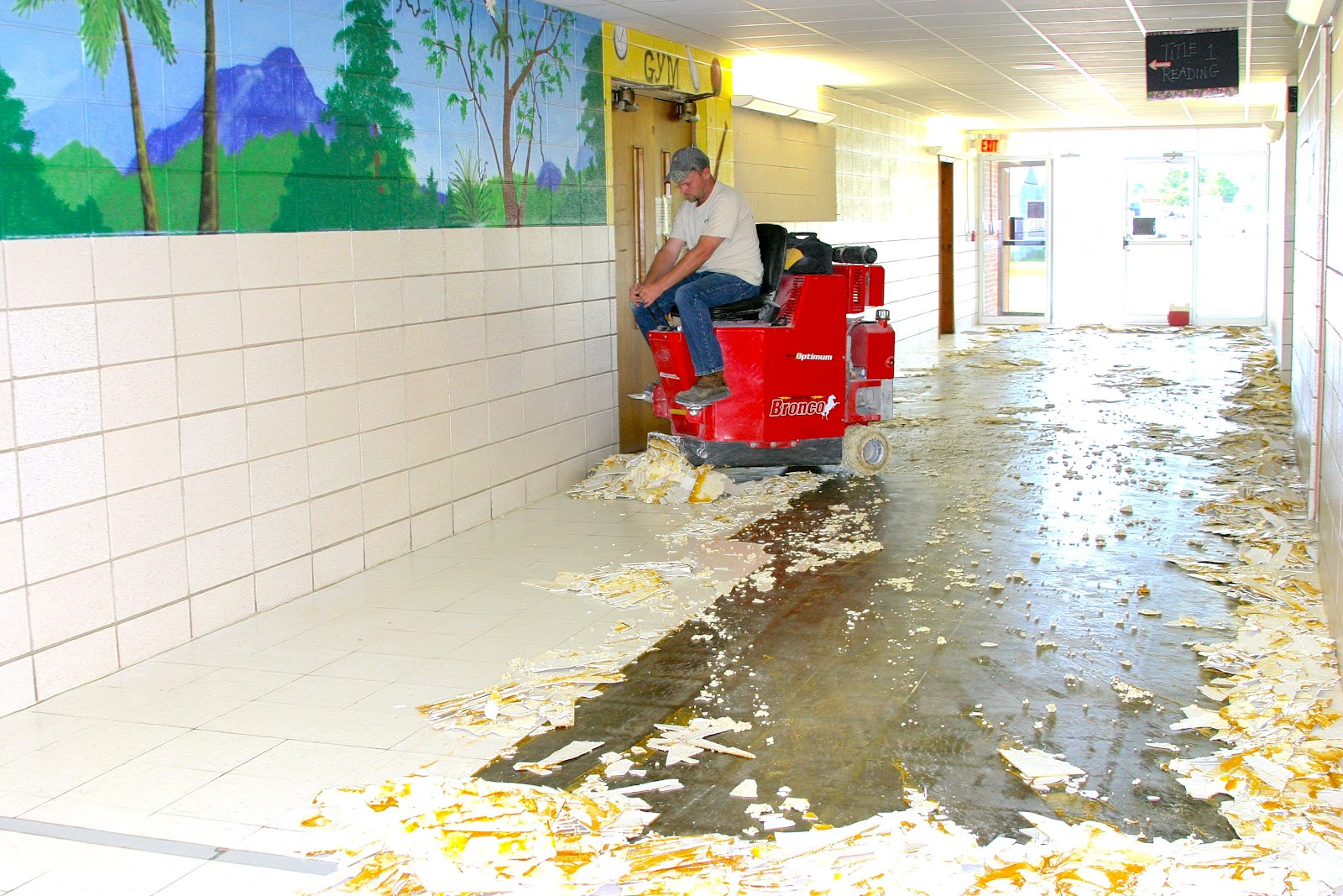 Tile In School : Dallas county r i schools news new tile for south wing of