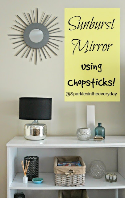 DIY Sunburst Mirror Using CHOPSTICKS! Crazy but cool :) Tutorial from Sparkles in the Everyday