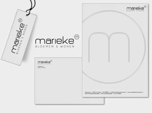 Marieke Bloemen & Wonen huisstijl