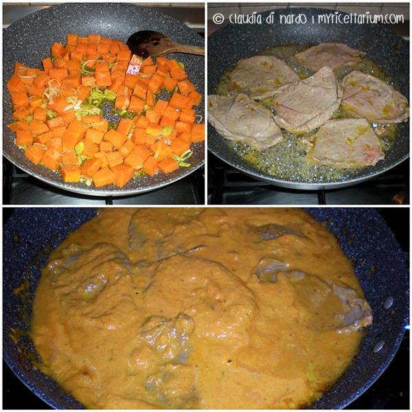 Fettine di vitella in salsa di zucca