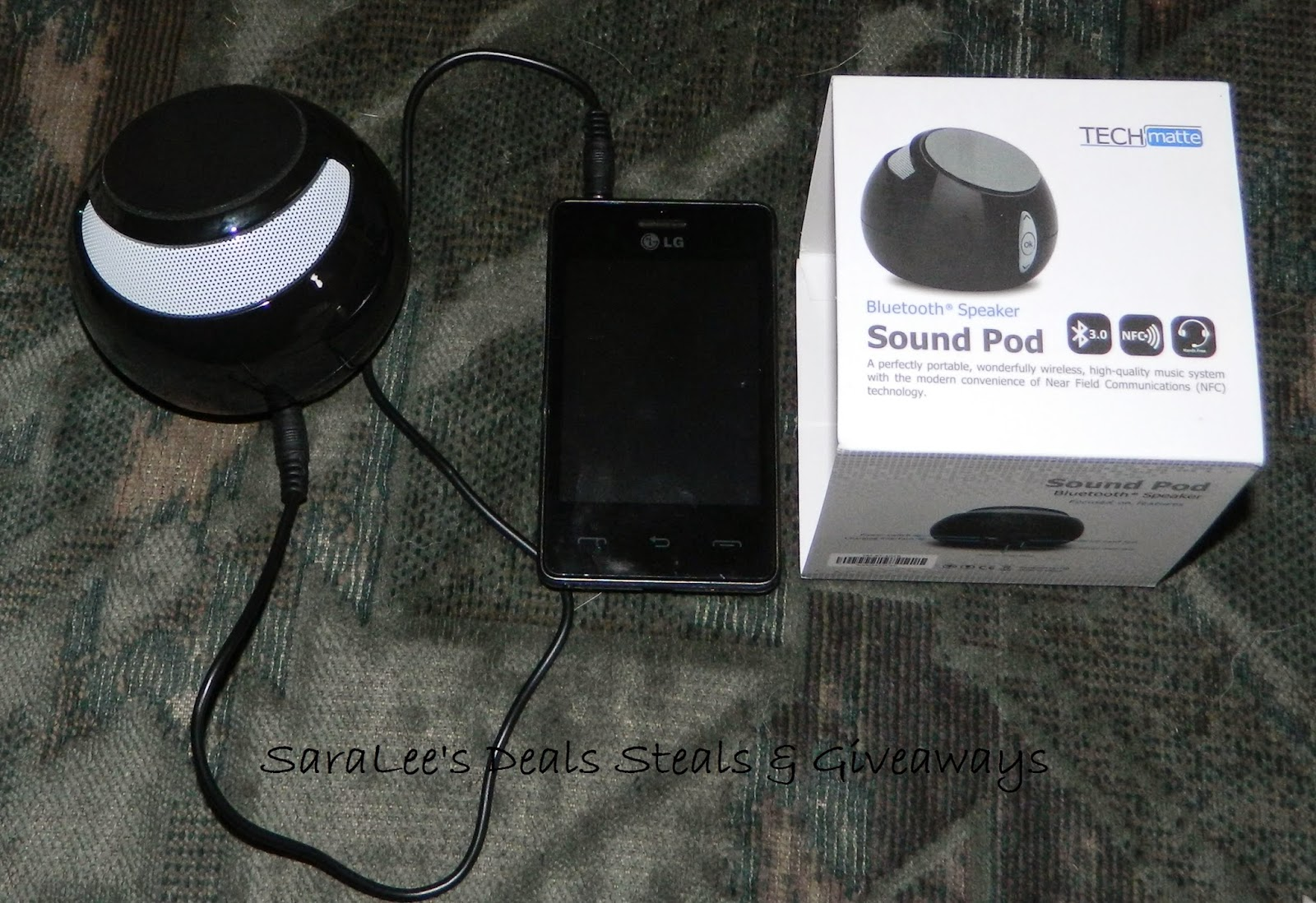 Enter the Sound Pod Bluetooth Speaker Giveaway. Ends 10/10