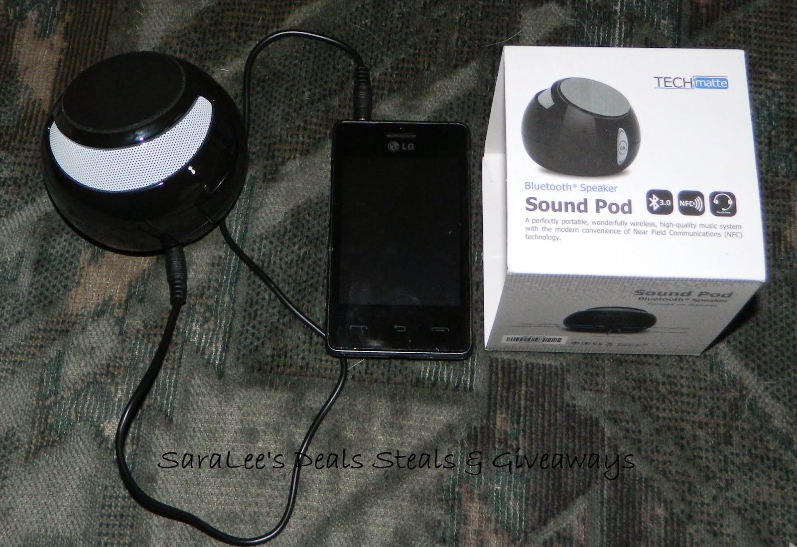 Enter the Sound Pod Bluetooth Speaker Giveaway. Ends 10/10