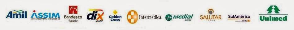 Planos de Saúde: Amil, Assim, Bradesco, Dix, Goldem Cross, Intermédica, Medial, Salutar e Unimed