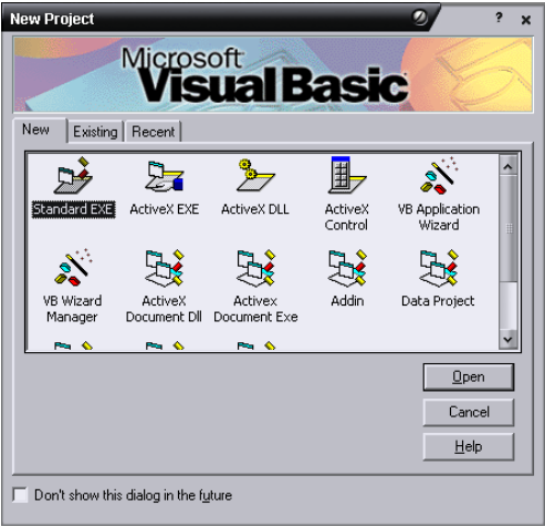 Memanggil Program Visual Basic 6.0